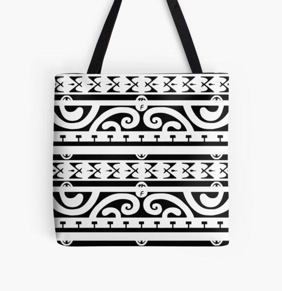 Tahitian tattoo design All Over Print Tote Bag