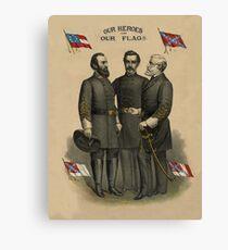 Generals Jackson, Beauregard, and Lee  Canvas Print