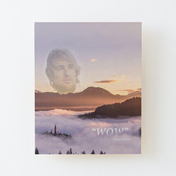 WOW - Owen Wilson Impression montée sur bois