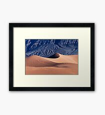 Sunrise over Mesquite Flat Sand Dunes Framed Print