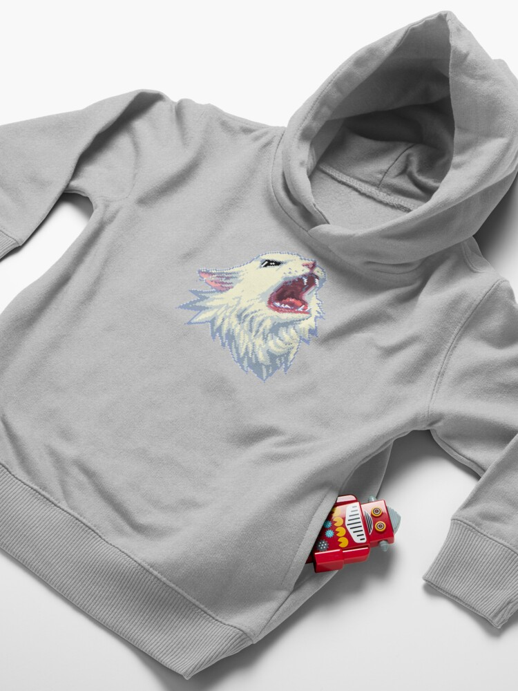 Alternate view of 8-bit Screamin' Thurston the Cat! Toddler Pullover Hoodie