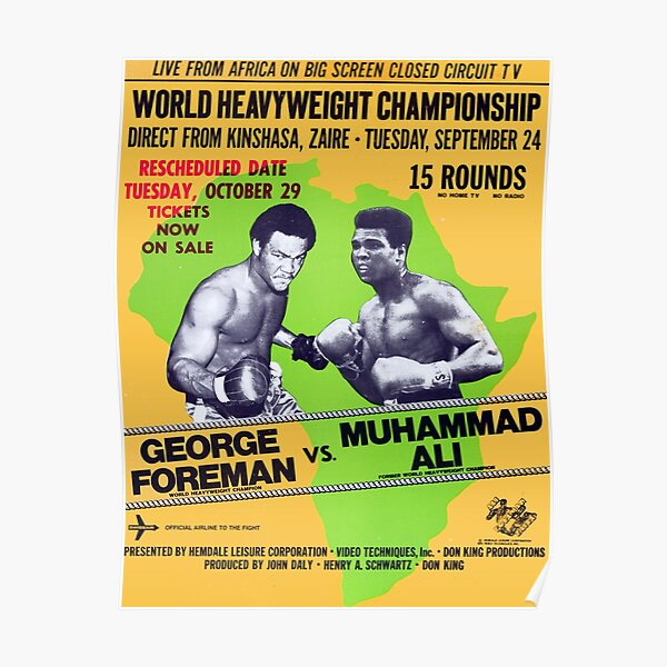 poster Middleweight Championship Reproduction. Vintage boxing advertising