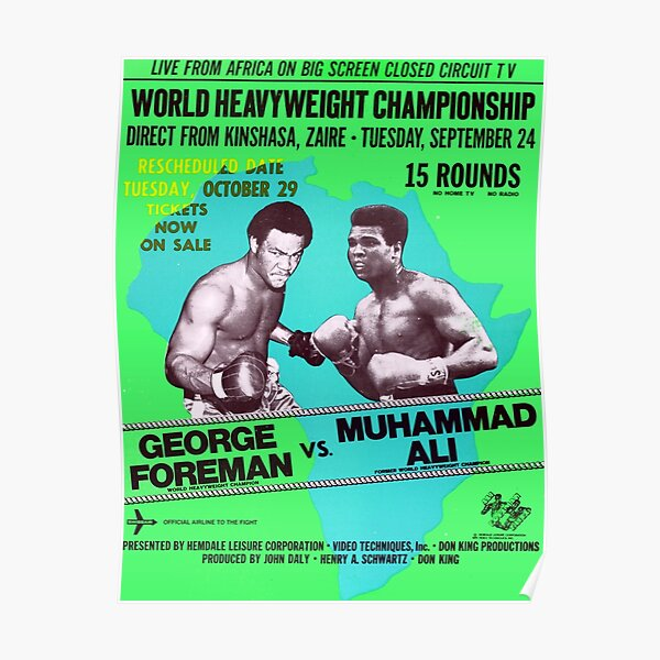 Copy of Boxing and Boxers: Cool Poster of a Mythical Fight / green Poster