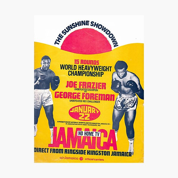 Boxing and Boxers: The Sunshine Showdown in Jamaica Photographic Print