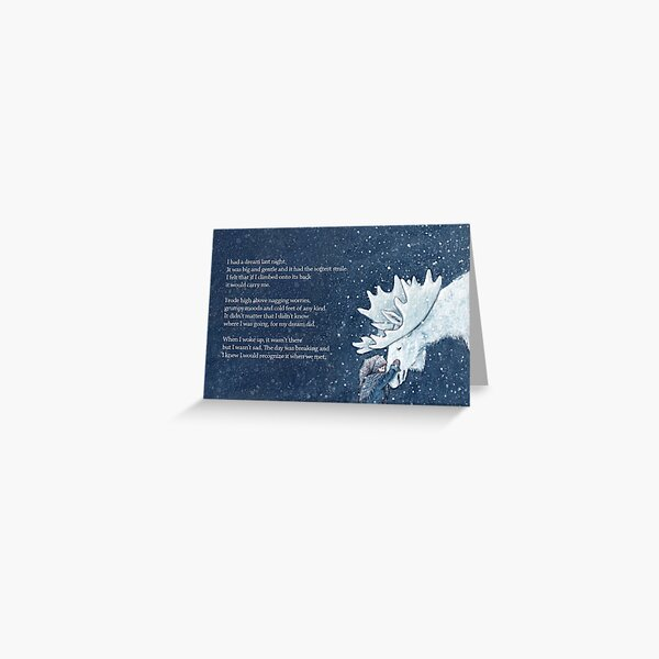 A dream to carry you Greeting Card