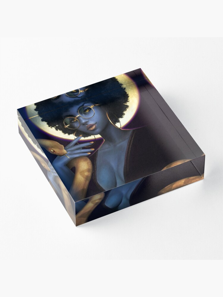 Alternate view of Afro Eclipse Acrylic Block