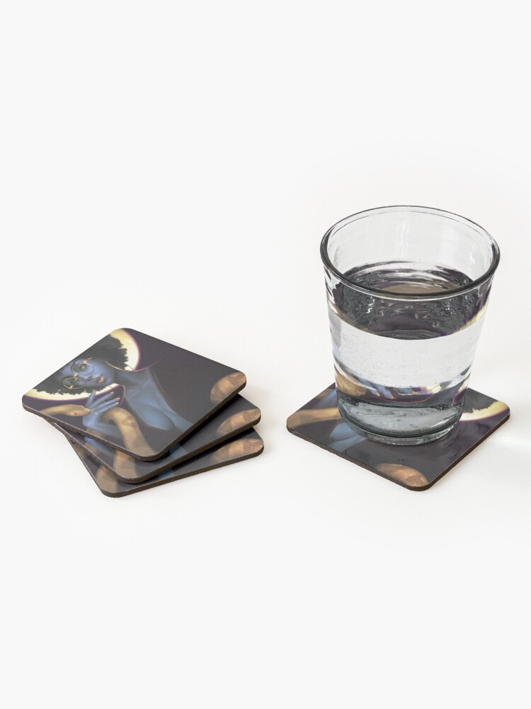 Alternate view of Afro Eclipse Coasters (Set of 4)