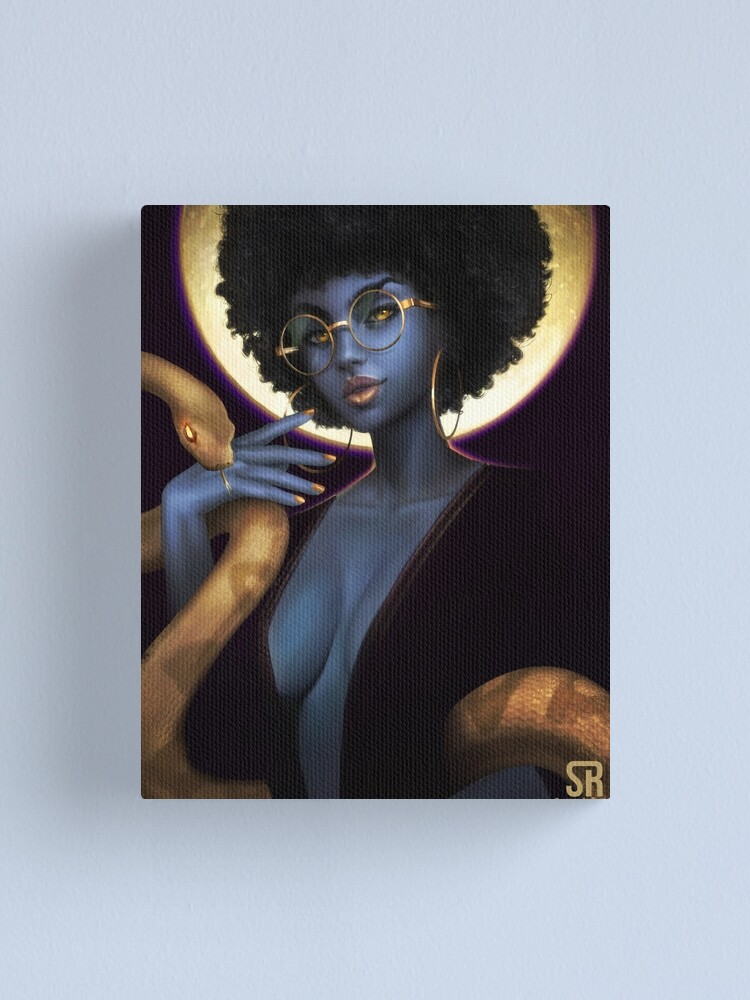 Alternate view of Afro Eclipse Canvas Print