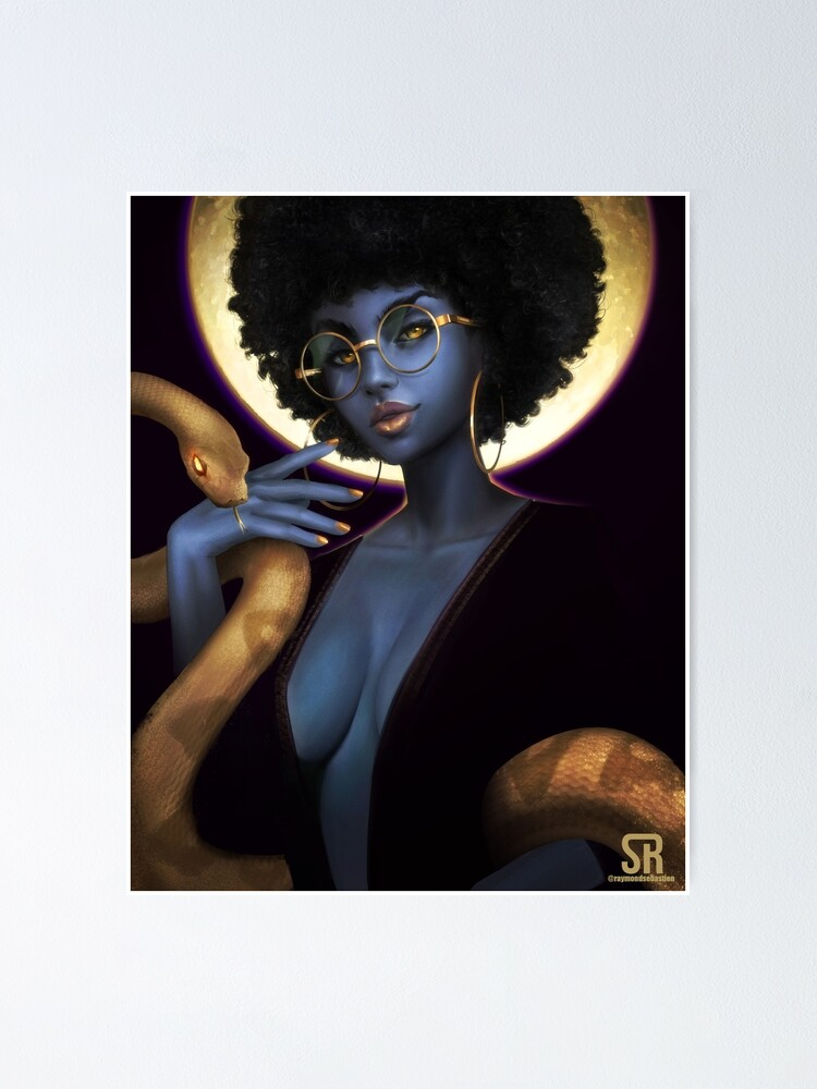 Alternate view of Afro Eclipse Poster