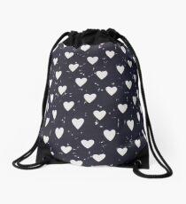 Harry Styles Shirt Pattern - Hearts  Drawstring Bag