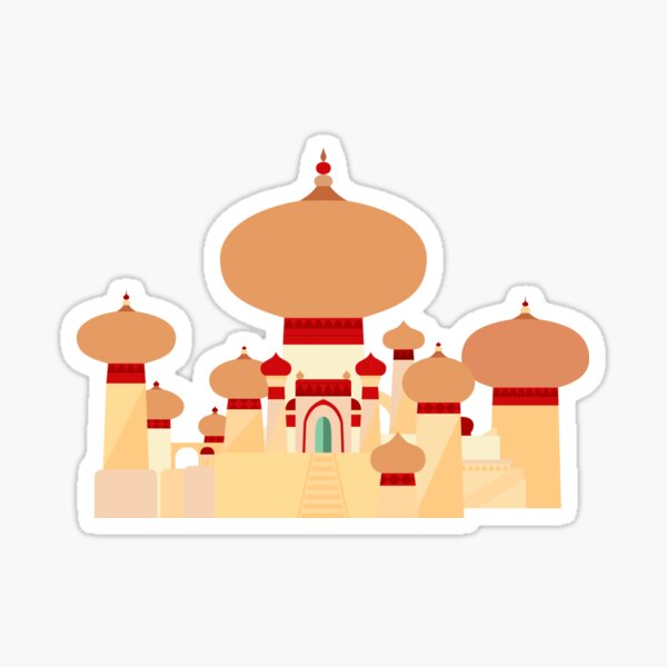 Palace of Agrabah ala Mary Blair Sticker