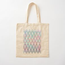 Mermaid's Braids - a colored pencil pattern Cotton Tote Bag