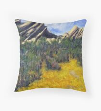 Spring at Vazquez Rocks Throw Pillow