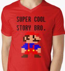 Super Cool Story Bro. (Mario) Mens V-Neck T-Shirt