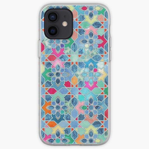 Pretty Pastel Moroccan Tile Mosaic Pattern iPhone Soft Case