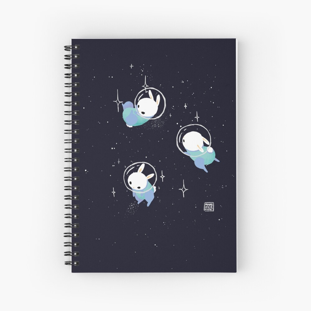 Space Bunnies Spiral Notebook