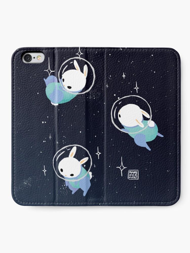Alternate view of Space Bunnies iPhone Wallet