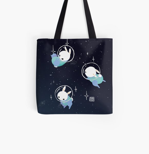 Space Bunnies All Over Print Tote Bag