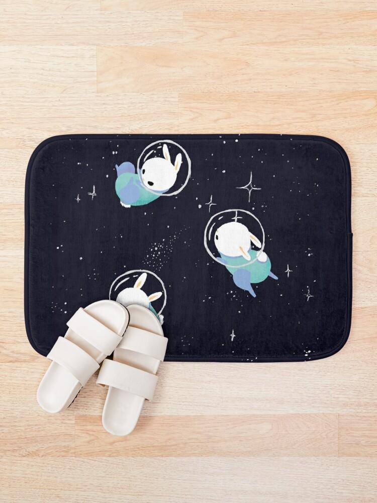 Alternate view of Space Bunnies Bath Mat