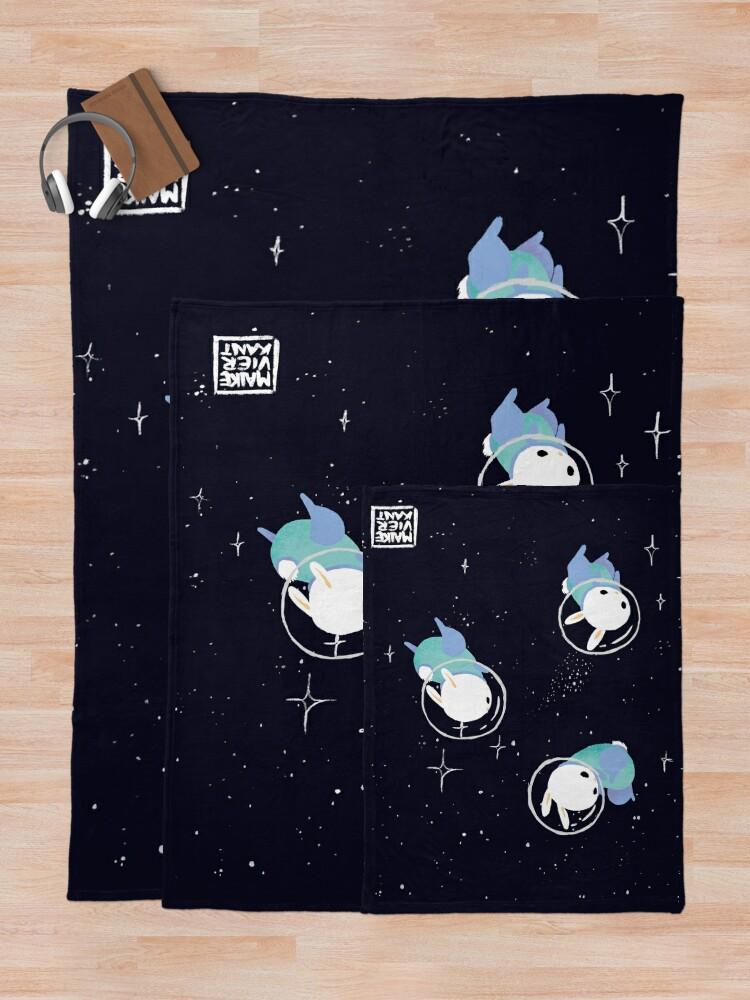 Alternate view of Space Bunnies Throw Blanket
