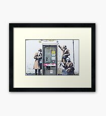 """We are Listening"" Banksy Framed Print"