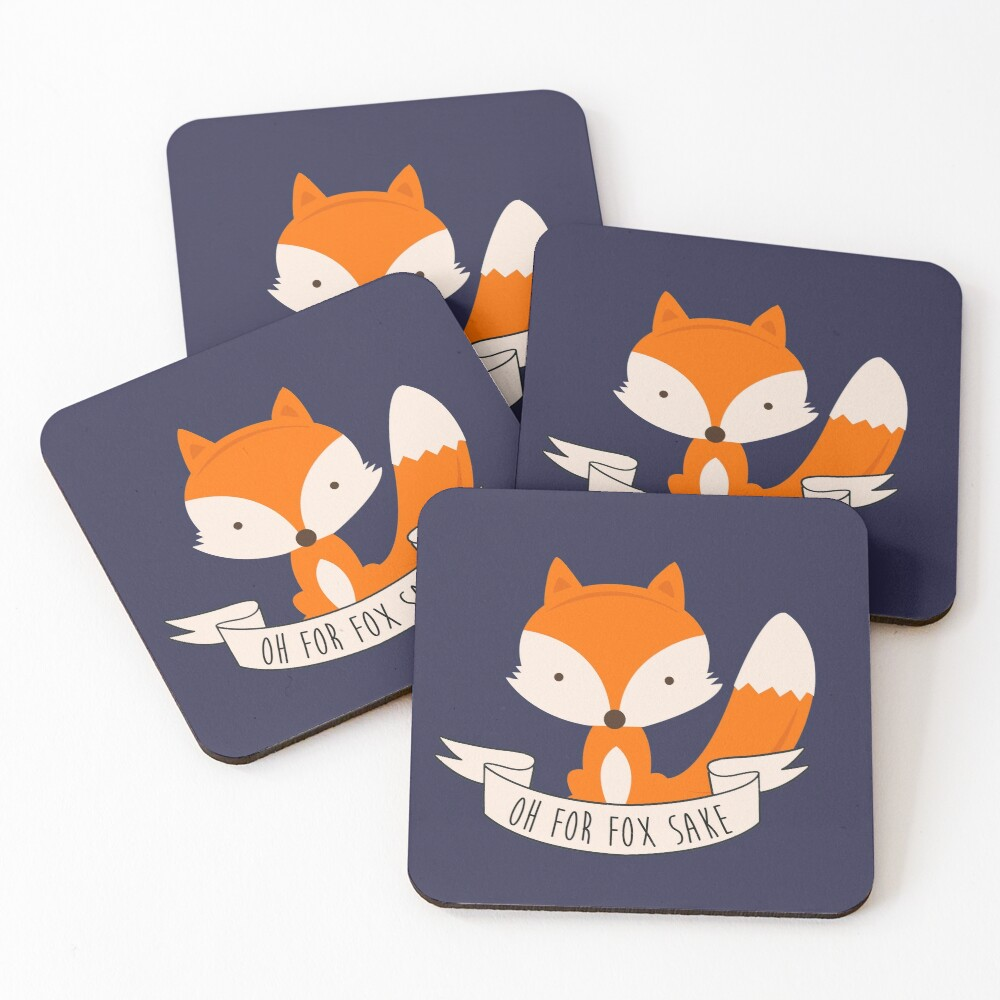 Oh For Fox Sake Coasters (Set of 4)