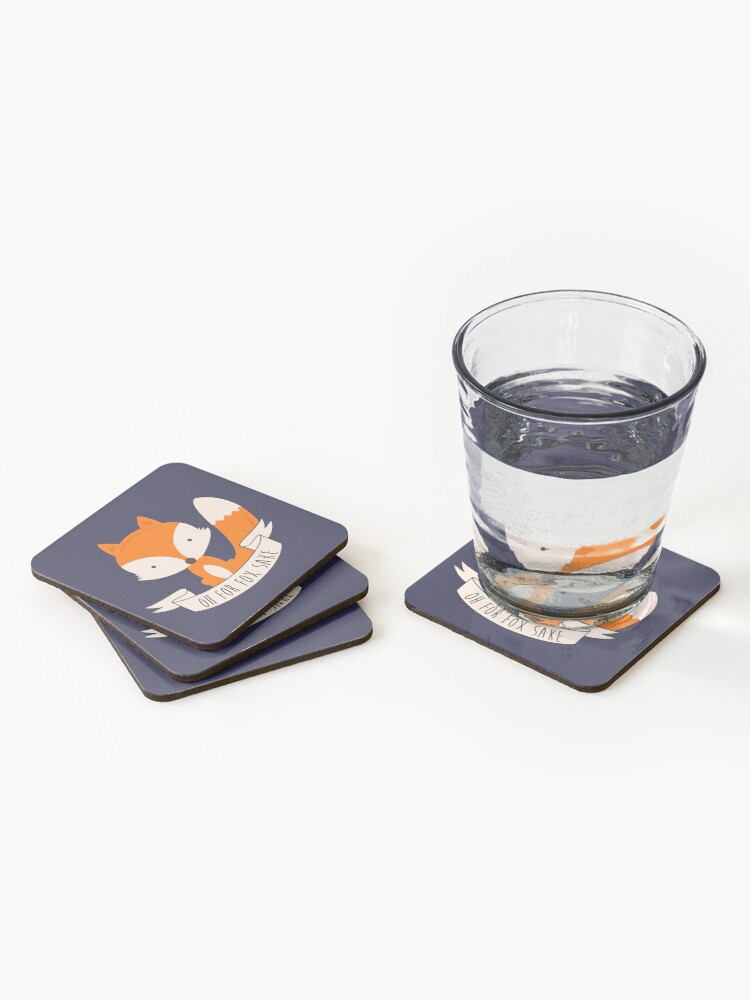 Alternate view of Oh For Fox Sake Coasters (Set of 4)