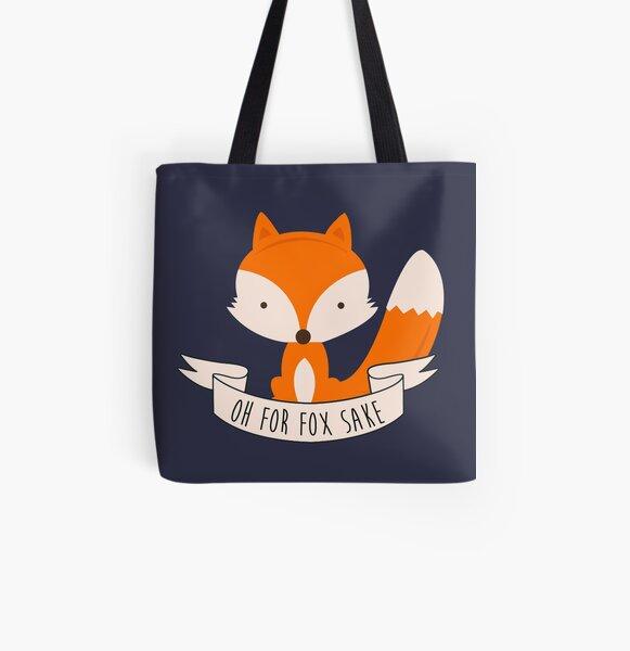 Oh For Fox Sake All Over Print Tote Bag