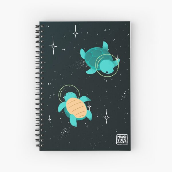 Space Turtles Spiral Notebook