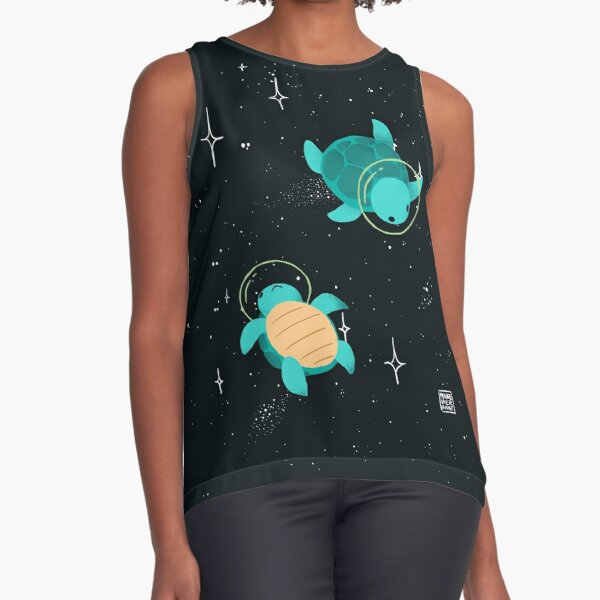 Space Turtles Sleeveless Top