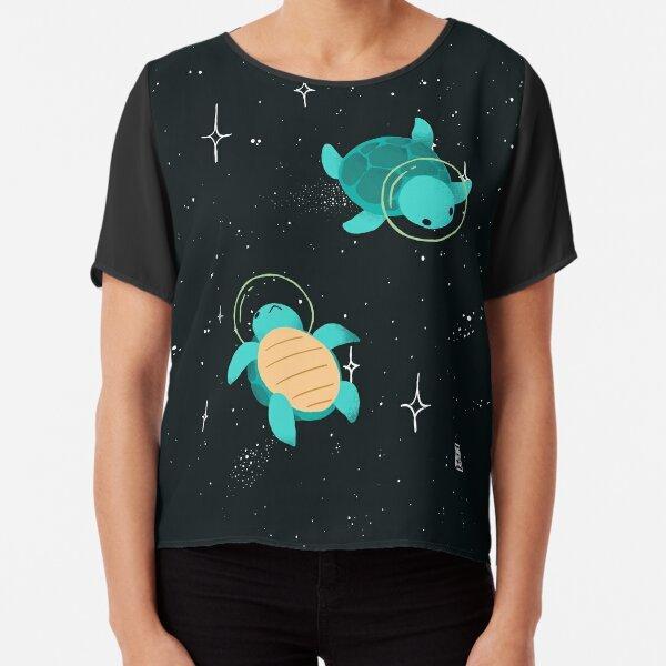 Space Turtles Chiffon Top