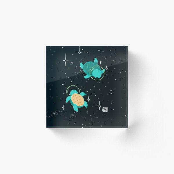 Tortugas espaciales Bloque acrílico