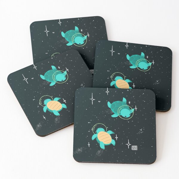 Space Turtles Coasters (Set of 4)