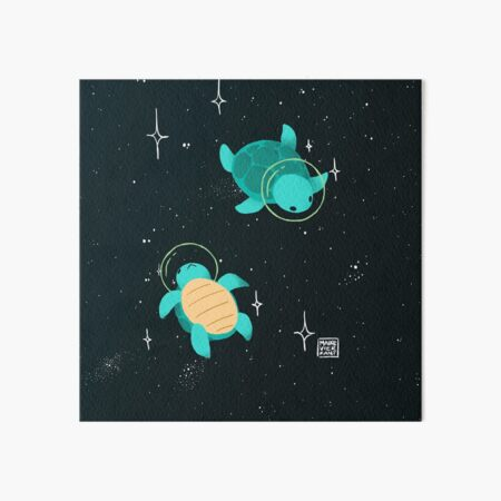 Space Turtles Art Board Print