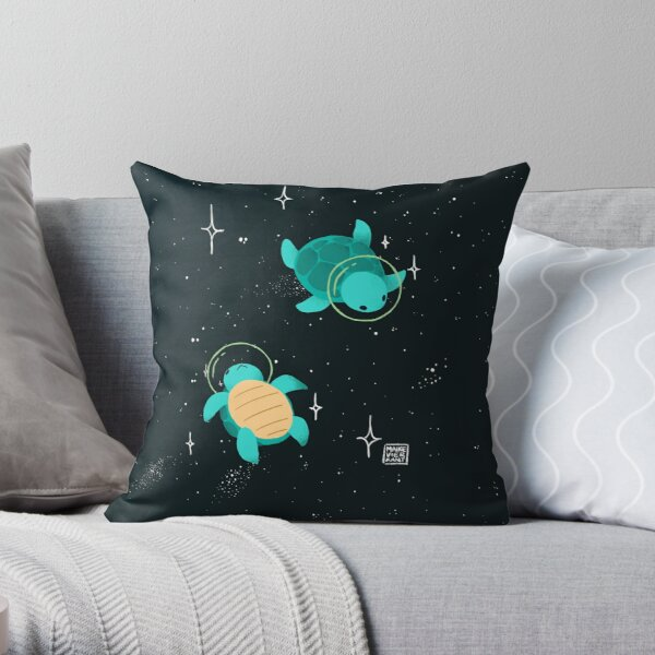 Space Turtles Throw Pillow