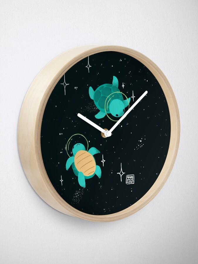 Alternate view of Space Turtles Clock
