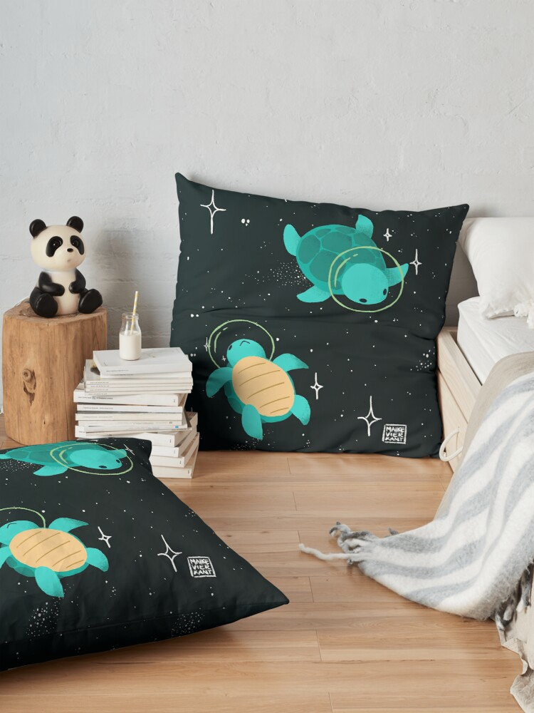 Alternate view of Space Turtles Floor Pillow