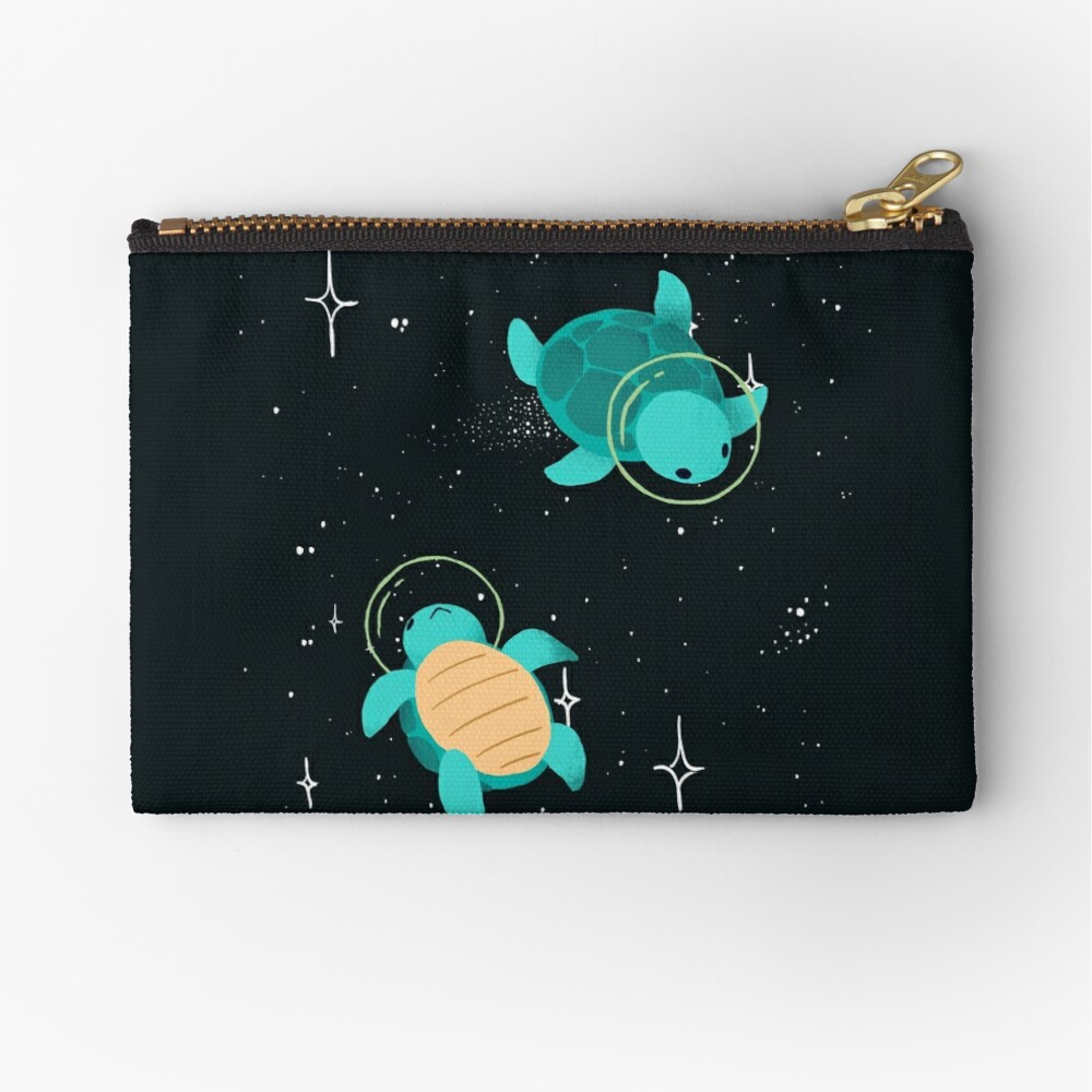 Space Turtles Zipper Pouch
