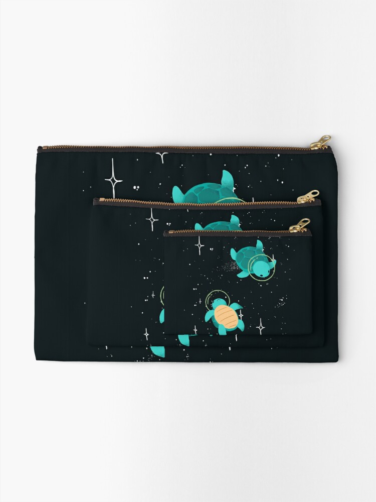 Alternate view of Space Turtles Zipper Pouch