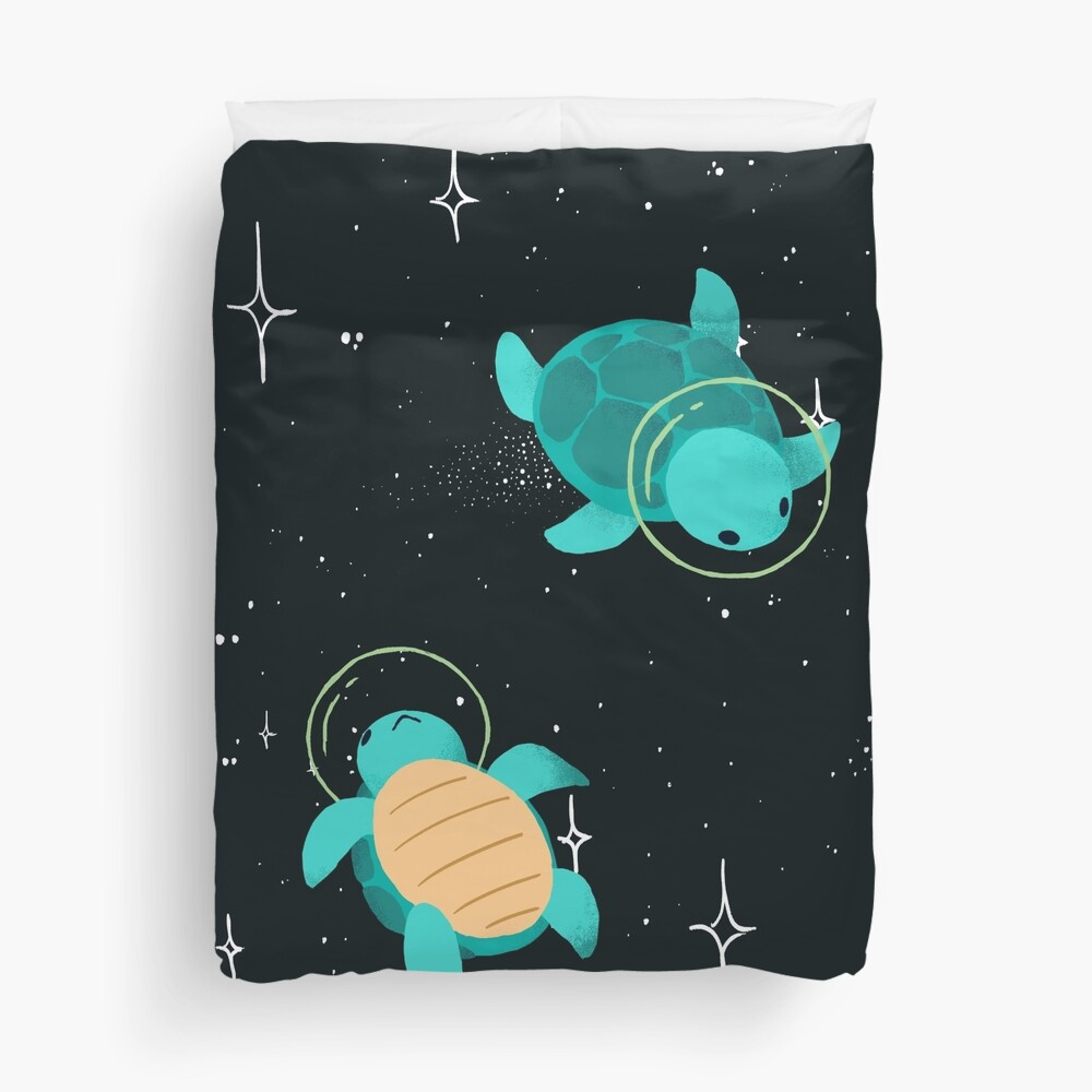 Space Turtles Duvet Cover