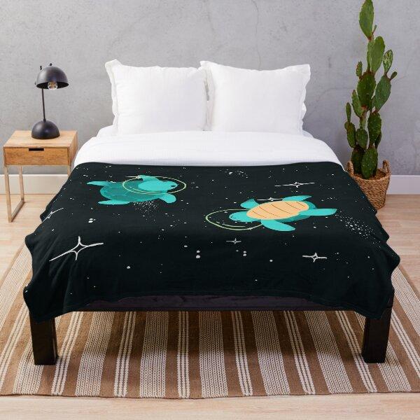 Space Turtles Throw Blanket