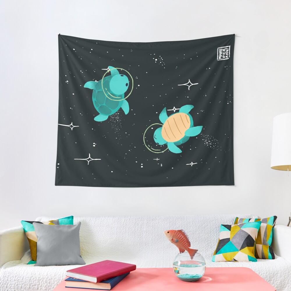 Space Turtles Tapestry
