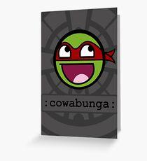 Cowabunga Buddy Squad: Raphael Greeting Card