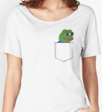 Happy Pocket Pepe Women's Relaxed Fit T-Shirt
