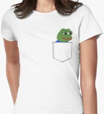 Happy Pocket Pepe Women's Fitted T-Shirt