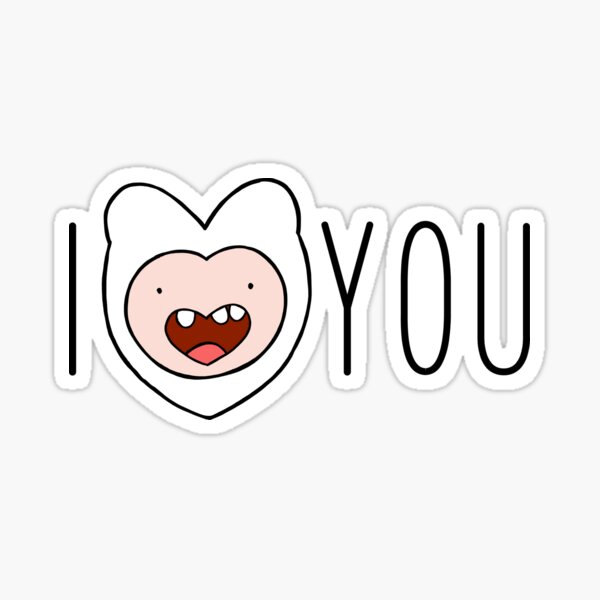 Adventure Time - I Love You Finn Sticker