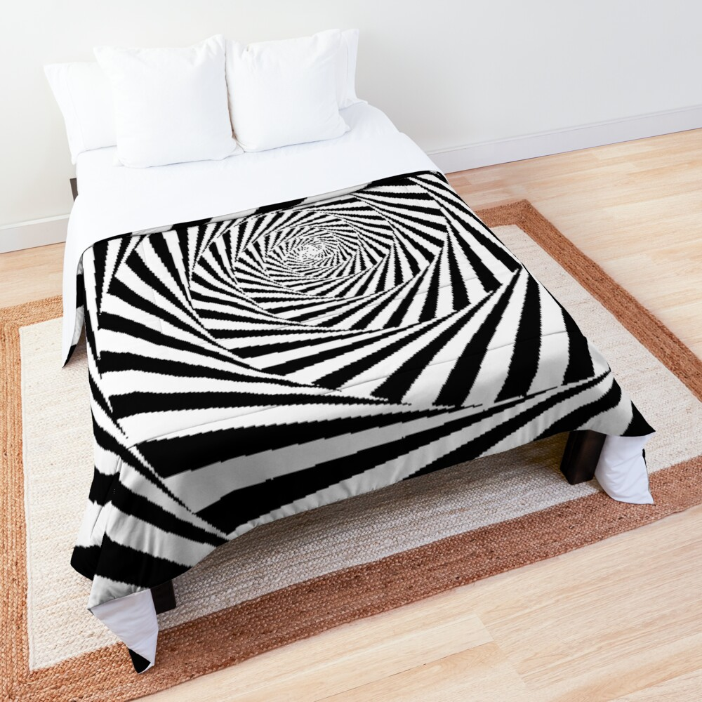 Optical Illusion Beige Swirl,  ur,comforter_top_king,square,1000x1000