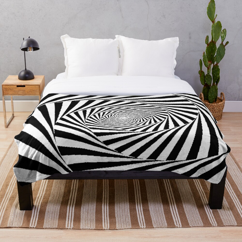 Optical Illusion Beige Swirl,  ur,blanket_medium_bed,square,x1000
