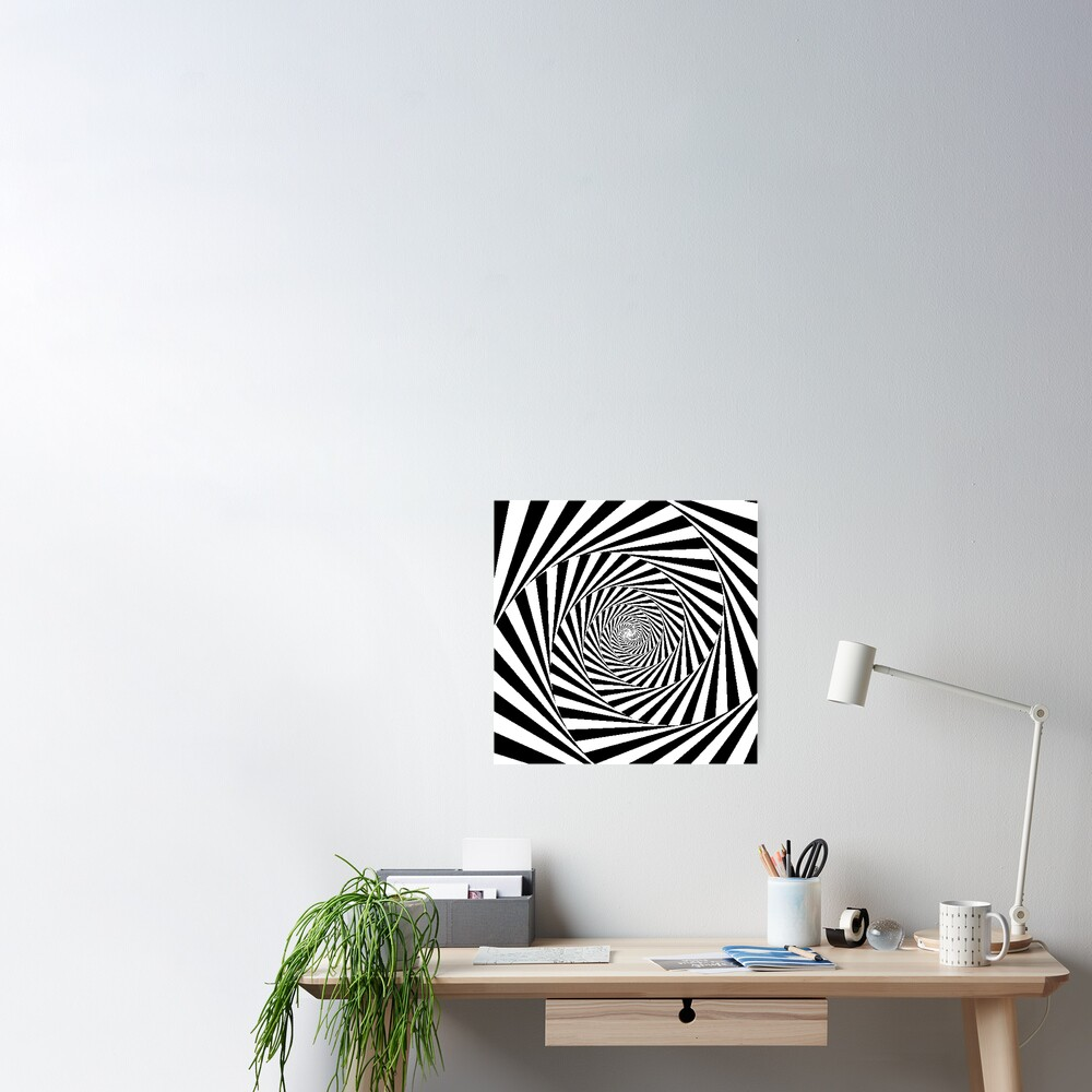 Espiral Hipnótica, Optical Illusion Beige Swirl Poster