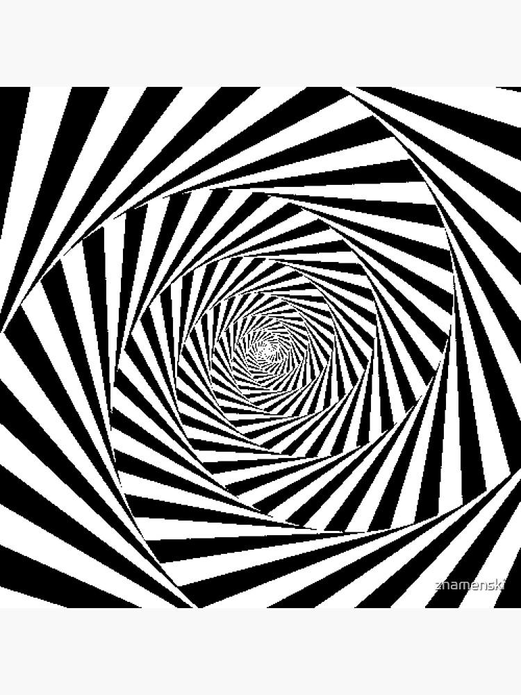 Espiral Hipnótica, Optical Illusion Beige Swirl by znamenski